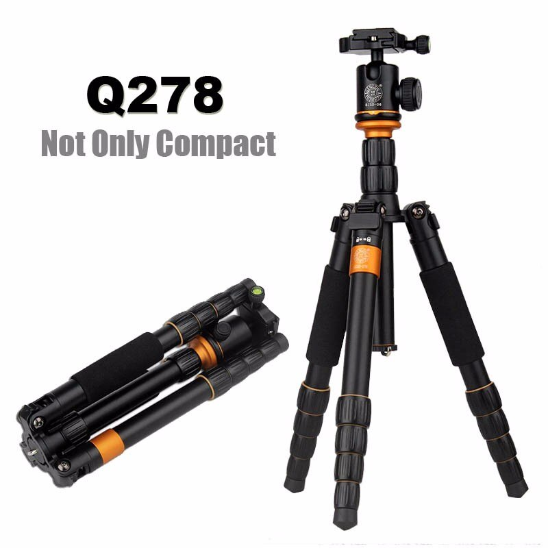 Lighter QZSD Q278 Lightweight Compact Tripod to Monopod Ball Head for Canon Nikon DSLR Camere/Portable Reflexed Camera Stand