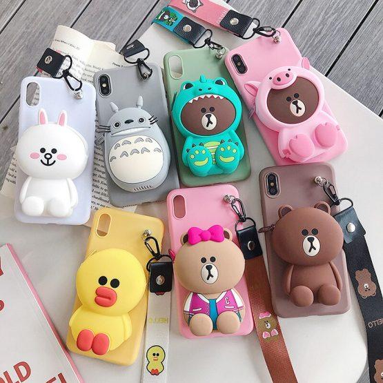 Zipper Wallet Cartoon Phone Cases Xiomi Redmi Note 8 5 7 4 4X Pro 8T 9S 9 Silicone Cover For Xiaomi Redmi 5 Plus 5A 6 A 6A Etui