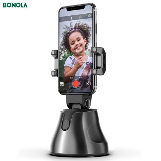 Bonola Auto Smart Shooting Selfie Stick Intelligent Gimbal AI-Composition Object Tracking Face Tracking Camera Phone Holder