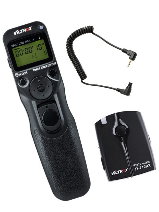 Viltrox JY-710-C3 Wireless Camera LCD Timer Remote Control Shutter Release for Canon 30D 40D 50D 7D 7DII 6DII 5D Mark IV 5DIII
