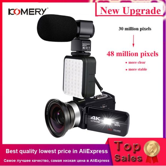 """Brand Name: KOMERYHigh Definition Support: 4KUsage: Home UseStorage Type: SD CardSensor Size (inches): 1/3 inchesImage Stabilization: Electronic Image StabilizationType: PORTABLEMovies File Formats: AVIAdditional Function: Support WIFIModel Number: UHD-4KTouch Screen: YESSensor Type: CMOSNightShot Function: YesMedia Type: HDD / Flash MemoryPixels: 48millionWeight: 201g-300gDisplay Size: 2"""" - 3""""Optical Zoom: Fixed Focus"""