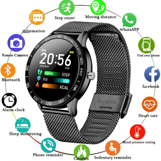 OLED Color Screen Heart Rate Blood Pressure Smartwatch