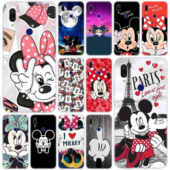 Hot Cute Cartoon Mickey Minnie Soft Silicone Case for Xiaomi Redmi K20 Pro 8 8A 7 7A 6 6A 5 Plus S2 Note 8 7 6 5 Pro 4 4X Cover