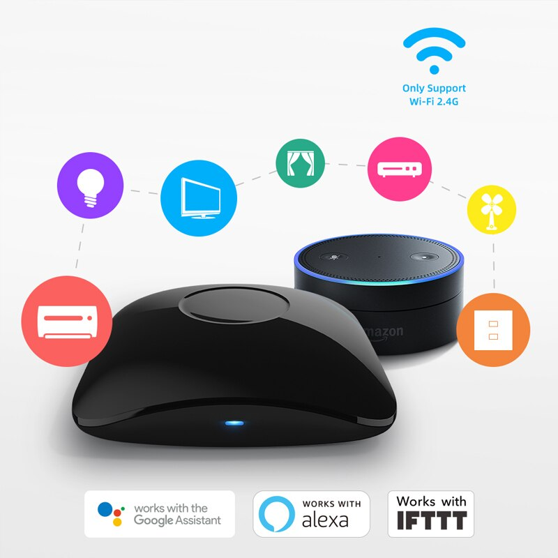 New Broadlink RM4 Pro Smart Home WiFi IR RF Universal Intelligent Remote Controller Home Automation Work With Google Home Alexa