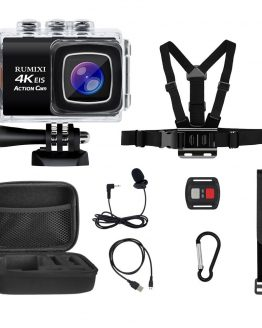 4K Sports Action Camera With EIS Function Remote Controller External Mic 30M Waterproof WIFI Video Recording Cameras Accessories