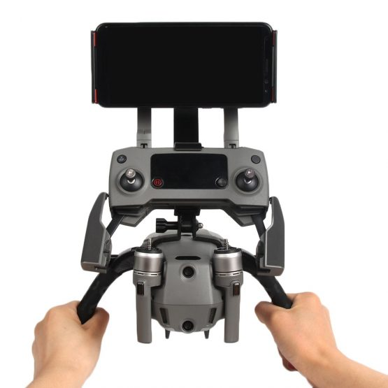 SUNNYLIFE Double Handheld Gimbal Camera Stabilizer Bracket Stand for DJI Mavic 2 Pro Zoom Drone 115-186mm Phone Tablet Accessory
