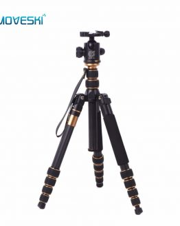 Moveski Q666C Professional Compact Carbon Tripod monopod with Ballhead Quick Release Portable Traveling Tripod for DSLR Camera