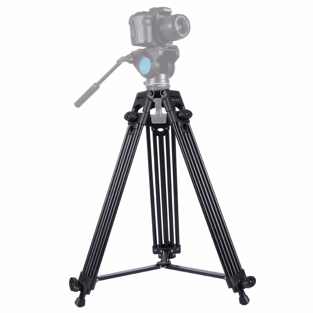 New Professional Video Camera Camcorder photography Tripod Heavy Duty Aluminium Alloy Tripod for Canon Nikon Sony DSLR Cameras