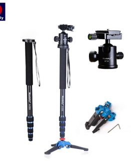 "Manbily A-222 165cm/65"" Portable Professional DSLR Camera Monopod&M-1 Base head ball Mini tripod Stand For Canon Nikon phone DV"