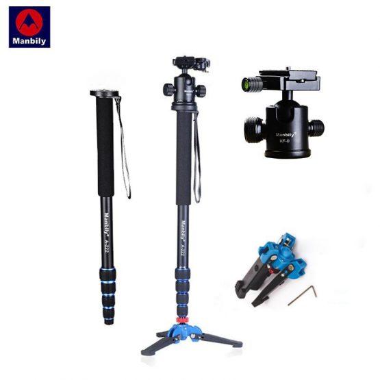 "Manbily A-222 165cm/65"" Portable Professional DSLR Camera Monopod&M-1 Base head ball Mini tripod Stand For Canon Nikon phone DV"