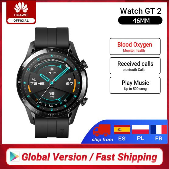 Global Version HUAWEI Watch GT 2 GT2 Smart Watch Blood Oxygen SmartWatch 14 Days Phone Call Heart Rate Tracker For Android iOS