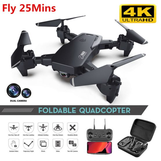 Profession Drone 4K HD Camera WIFI 16MP Dual Camera Follow Me Quadcopter FPV Professional Drone Long Battery Life Toy For Kids