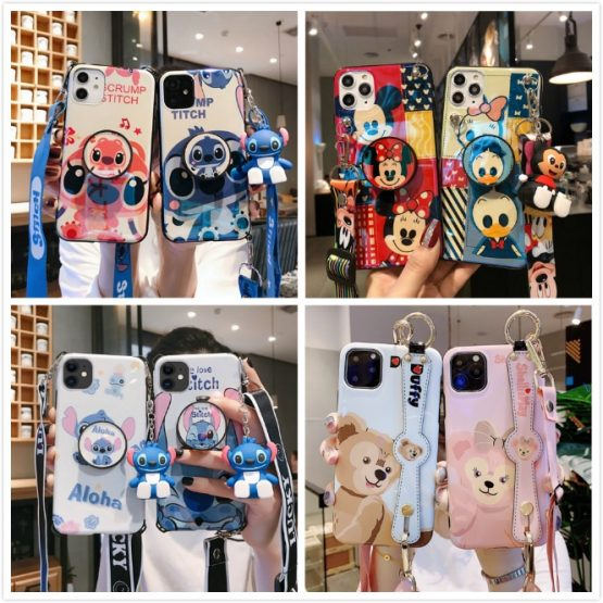 Stitch Phone Case for IPhone 11 Pro Max XR XS Case Cute Silicone Cover for IPhone 7 8 6s Plus Phone Case Cartoon Soft TPU Funda