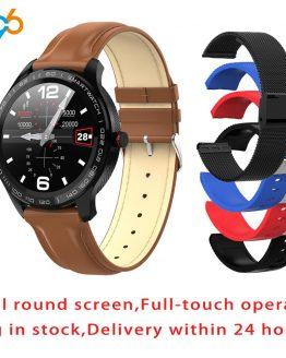 L9 ECG PPG Smart Watch Men Band Sports Heart Rate Bluetooth Smartwatch Waterproof IP68 Blood Pressure Oxygen Leather Watch Women