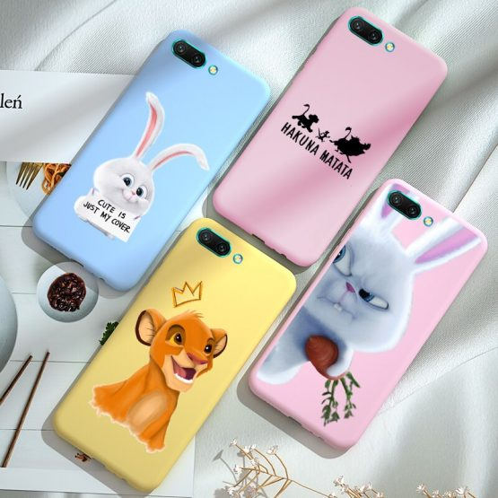 Cute Cartoon Phone Case Honor 8A 8C 8S 8X 9X Premium 9A 9C 9S 7C 7A PRO Back Cover FOR Huawei Honor 10 Lite 10i 20S View 20 Capa