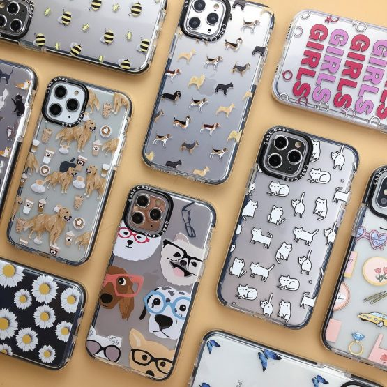 Cartoon Cat Dog Cute Animal Phone Cases For iphone 11 Pro XR XS Max X 7 8 plus Shockproof Clear Soft TPU Back Cover Fashion Case