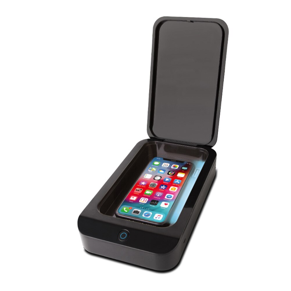 Mobile Phone Clean Case Sanitizer for iPhone Samsung HuaweiFit for 6 inch Smartphones Disinfection Box Sterilizer Box.