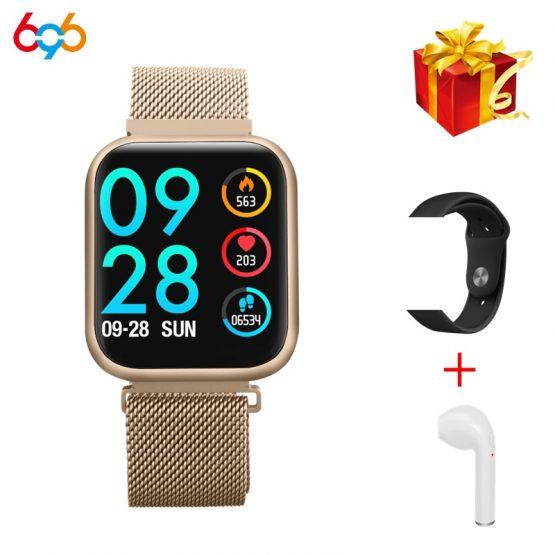696 P70 Upgraded Version P80 Smart Watch Women IP68 Waterproof Smartwatch Heart Rate Blood Pressure For IPhone Samsung Huawei
