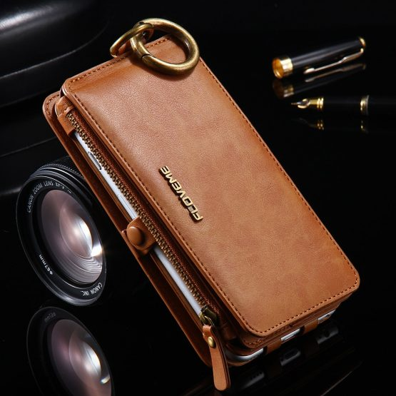 FLOVEME Note 3 4 5 Retro Wallet Leather Case For Samsung Galaxy S6 edge Plus S7 for iPhone XS XR MAX 5s SE 6 6s 7 8 Plus Cover