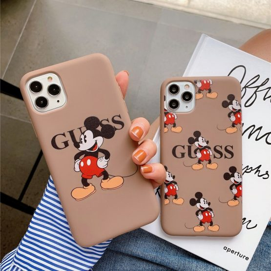 luxury brand Cartoon Funny Mouse Phone Case for iPhone 11 Pro X XS Max XR 7 8 6 Plus SE 2020 Cute Silicon Soft Cover Coque