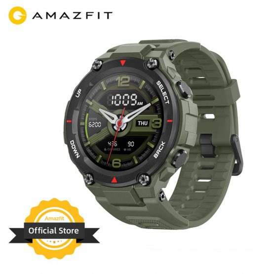 New 2020 CES Amazfit T-rex T rex Smartwatch 5ATM 14 Sports Modes Smart Watch GPS/GLONASS MIL-STD for iOS Android phone
