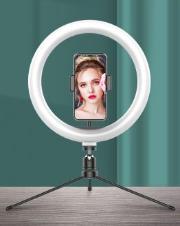10 inch Photography LED Selfie Ring Light Bluetooth Remote Video Light Ring Light Lamp with Tripod Stand for TikTok Youtube Live