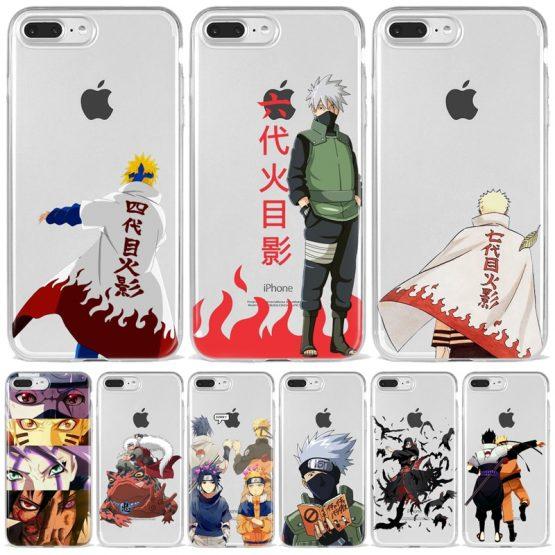Fashion Relief Anime Naruto Uzumaki Sasuke kakashi Case Cover Soft Cartoon Phone Case For iPhone 5 6 7 8 Plus XS XR 11 Pro Max