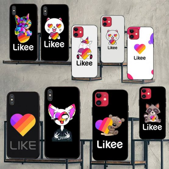 CUTEWANAN fashion Likee cat bear love heart Phone Case Cover for iPhone 11 pro XS MAX 8 7 6 6S Plus X 5S SE XR case