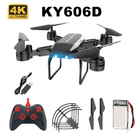 KY606D 1 Set Folding Drone 4K Wide-Angle Aerial Photography Wifi Without Camera Fixed Height Version Rc Drone Hd