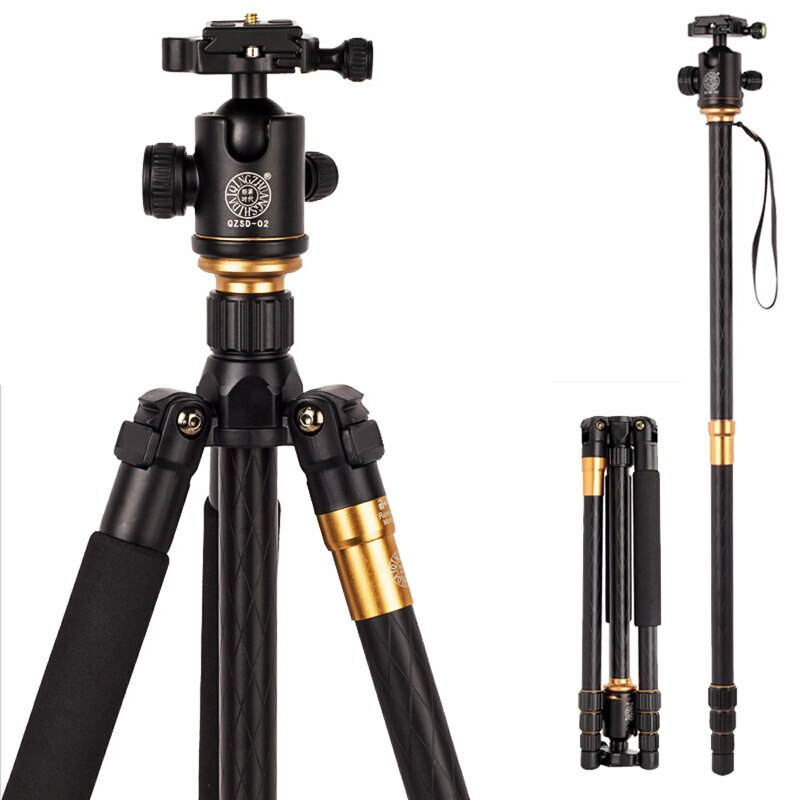 QZSD Hot Q999 Professional Portable Tripod To Monopod+Ball Head For Digital SLR DSLR Camera Fold 43cm Max Loading 15Kg