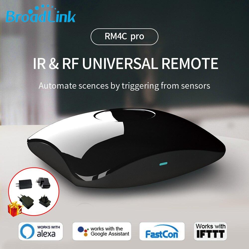 Broadlink/Bestcon RM RM4 Pro 433mhz 315mhz RF IR WIFI Universal Remote Control Smart Home Autoamtion work with Google Home Alexa