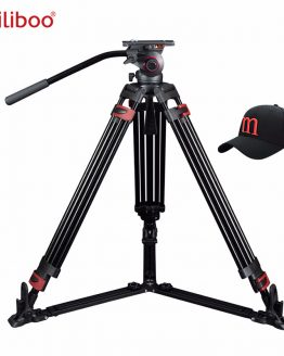 miliboo Portable tripod MTT609A/B Aluminum/Carbon fiber professional video camcorder Tripod VS manfrotto tripod Heavy duty 15KG