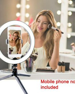 10'' Selfie Ring Light with Tripod Stand Cell Phone Holder,LED Make Up Light with 3 Light Modes for Camera YouTube Video tiktok