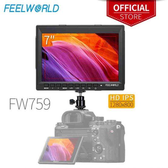 Feelworld FW759 7 Inch IPS 1280x800 Camera Field DSLR Video Monitor