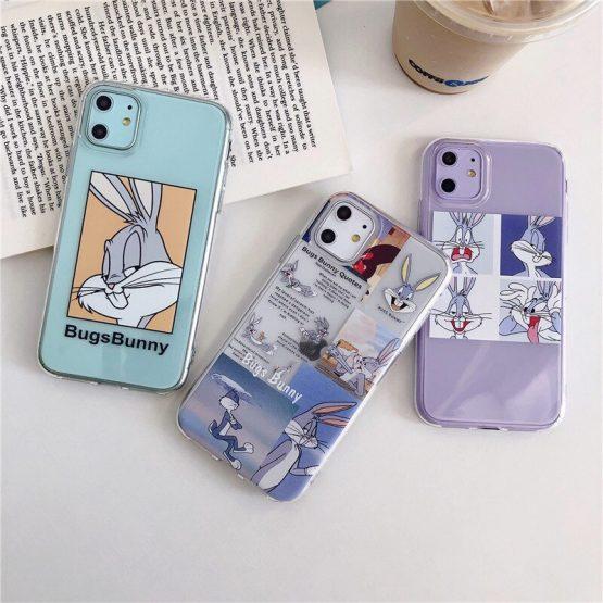 Cute Cartoon Bugs Bunny Phone Case For Huawei P20 Lite P30 Pro Mate 20 30 Pro y9 For Honor 7A 8A 8X 10 20 v20 Nova 3 5 Soft Case