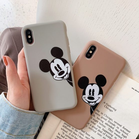 Cartoon Boy Mouse Matte Mobile Phone Cases For iphone X XR XS Max 6 6s Plus 7 8 Plus Shell Soft TPU Cute Case Cover Fundas Capa