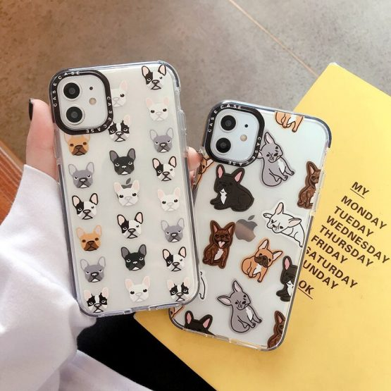 Cartoon Cute Dog Phone Case For iPhone 11 11Pro Max Transparent Soft Case For iPhone 8 7 Plus X XS Max XR Cover Funda