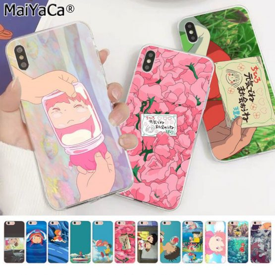 MaiYaCa Cartoon Ponyo on the Cliff Novelty Phone Case Cover for Apple iphone 11 pro 8 7 66S Plus X XS MAX 5S SE XR cover