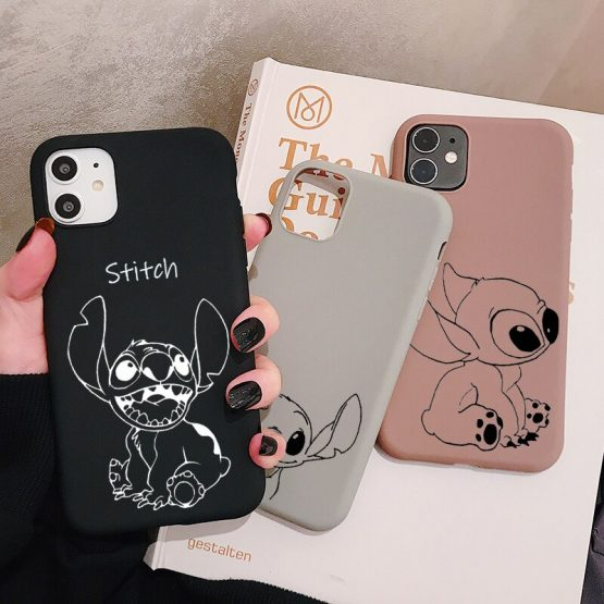 Cartoon Stitch Phone Case for iPhone 11 Pro XR X Xs Max 8 7 6 Plus 6S 5S SE Frosted Silicone Cases Soft Back Cover