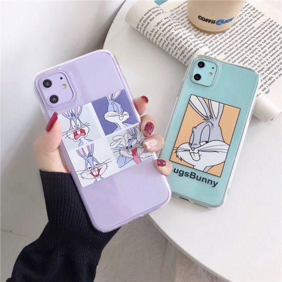 Cute Cartoon Rabbit Phone Case For Huawei P20 P30 lite Mate 30 20 Pro P Smart For Honor 8X V20 20 7A Y9 8A Nova 3 4 5 Soft Cover