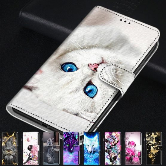 Leather Flip Wallet Stand Cover Cases For Meizu M6 M6T Meiblue 6T Luxury mobile Phone Case For Meizu 15 Lite M15 Cartoon Capa