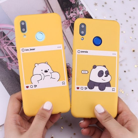 For Huawei Honor Mate 10 20 Nova P20 P30 P40 P Smart Bears Cartoon Cute Instagram images Candy Silicone Phone Case Capa Fundas