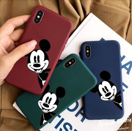 Cartoon Mickey Soft Phone Case For iPhone XS MAX XR X 7 6 6S 8 Plus Silicone Candy Tpu Case For iPhone 11 Pro Cover