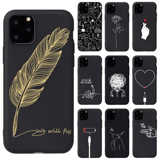 Modern Art Simple Line Hand Rose Girl Body Soft Silicon case For iPhone 11Pro 6 6s X 7 8 Plus 5s SE XS Max XR Phone Cover Case