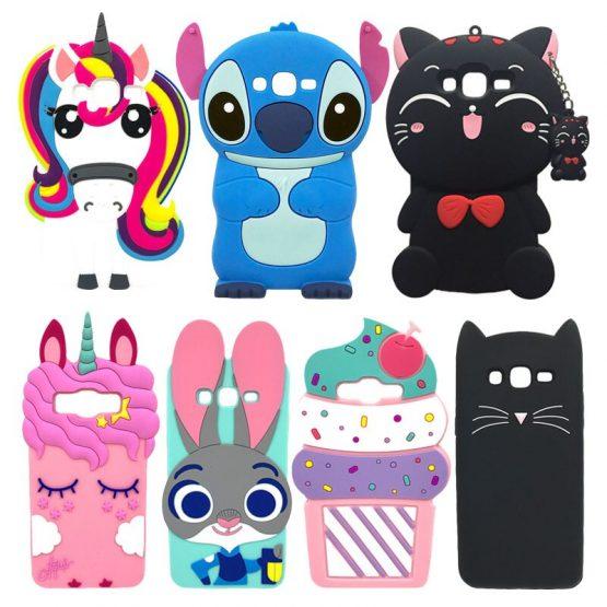 Unicorn Case For Samsung Galaxy J3 2016 Cover Cartoon Silicone Case For Coque Samsung J3 2016 Phone Cases 3D Cute Girl J3 Funda