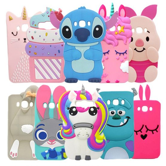 For Samsung J5 2016 Case Silicone Unicorn Stitch 3D Cartoon Soft Phone Case For Samsung Galaxy J5 2016 J510 SM-J510F Cover Cases