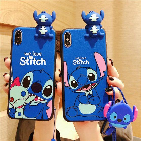 Cute Cartoon Stitch Couple phone case For Samsung Galaxy S10 S9 S8 PLUS Note 9 A30 A50 J3 J4 J6 J5 J8 J7 2017 A9 A7 A750 cover