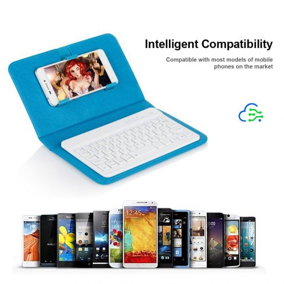 4 Colors Portable PU Leather Wireless Keyboard Case