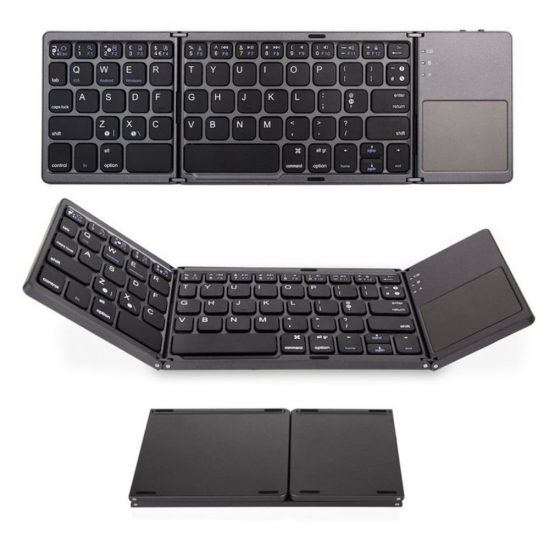 Bluetooth Foldable Wireless Keypad with Touchpad