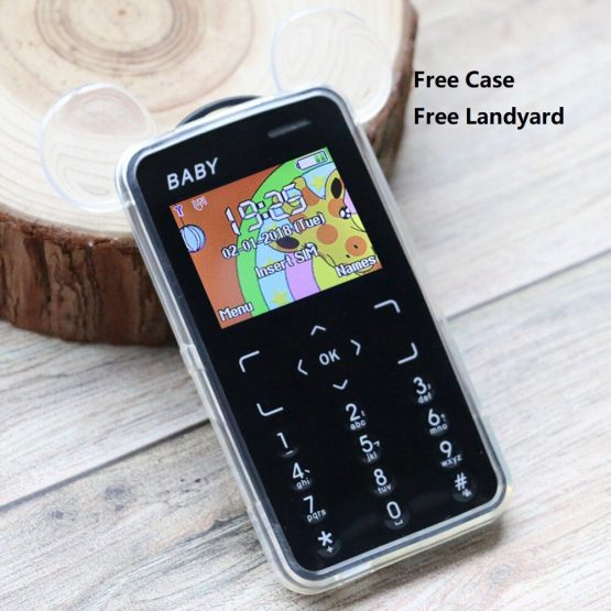 KUH T5 Kid's Mobile Phone Child Bluetooth Blacklist Small Size Student Low Radiation No Camera Music Russian Key M5 Cuty
